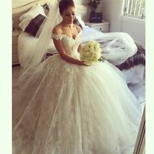 2016 New Bridal Gown White/ivory Wedding dress custom size 4-6-8-10-12-14-16-18+