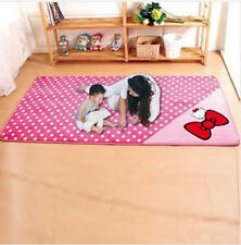 50*120cm Hello Kitty  Bow Floor Mat Rug Plush Door Kid Room Mat Valentine's Day