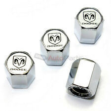 (4) Dodge Ram Logo Chrome ABS Tire/Wheel Stem Air Valve Car Truck CAPS Covers