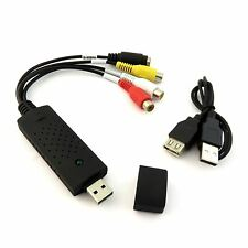 USB 2.0 INTERFACE TO 3 RCA FEMALE PHONO S-VIDEO OUTPUT CABLE A/V CAPTURE ADAPTER