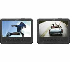 "LOGIK L7DUAMM16 Dual Screen Portable DVD Player Two 7"" Screens 800 x 480p"