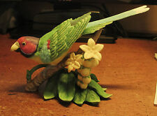 Exotic Birds by Lenox Plum Headed Parakeet No Box
