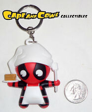 Marvel Figural Keychain Series CHEF DEADPOOL Laser Cut Mini Keyring Bag Clip