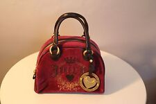 JUICY COUTURE ~ BOWLING BAG TYPE HANDBAG ~ MAROON AND BROWN ~ NWT