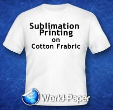 "Sublimation Printing on Cotton T-Shirts Light Heat Press *YL* 11"" x 17"" 10Pk :)"