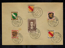 1946 Biberach Germany French Occupation zone cover  # 4N5 and 4N11