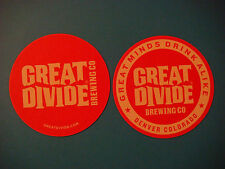 Beer Breweriana Coaster: GREAT DIVIDE Craft Brewing Co ~ Great Minds Drink Alike