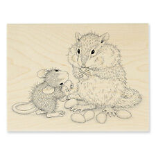 HOUSE MOUSE RUBBER STAMPS CHIPMUNK TREAT NEW WOOD STAMP