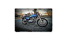 1976 kz400 Bike Motorcycle A4 Photo Poster