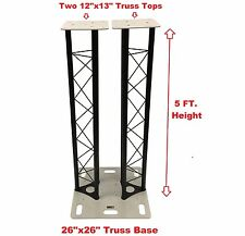 5 FT Dual Triangle Stage/Club DJ Lighting Truss Tower Totem System Single Base