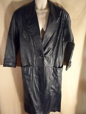 Maurices Women's  Leather Trench Coat Jacket Dark Blue Size Small-SHIPS FREE