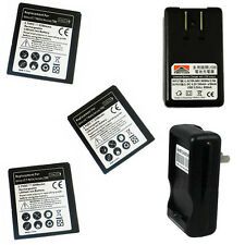 3x 2200mAh Li-Ion Battery+Pod Charger For Samsung Galaxy S2 II Hercules SGH-T989