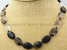 AAA Charming 13x18MM Black white Tourmaline Gem Necklace 18 ''