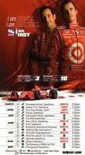 Dan Wheldon & Helio Castro Neves IndyCar Series 2008 Schedule POSTER-VERY RARE