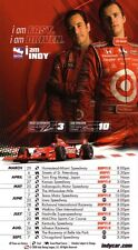 Dan Wheldon & helio castro neves IndyCar Series 2008 Schedule póster-very rare