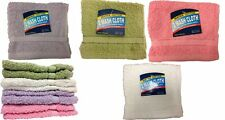 "Superior 24 -Piece 100%  Cotton Washcloth Face Towels Size 12"" X 12"" in 6 Color"