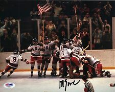 Mike Eruzione Hockey Signed 8x10 Auto PSA Team USA Gold -