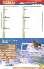 Decadry SCB-2004 120 Green Marble Business Cards. Make your own Business cards