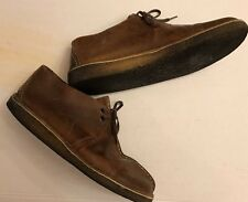 CLARKS Original Desert Trek Beeswax Leather Ankle Chukka Boot Shoes Mens 9.