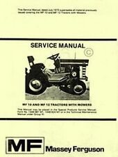 Massey Ferguson MF-10 MF-12 MF10 MF12 Tractor Shop Service Repair Manual