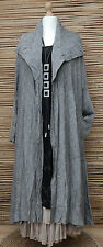 *BELLA BLUE*COTTON BLEND BEAUTIFUL LOVELY 2 POCKETS JACKET/COAT*GREY MARL* L-XL