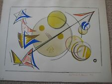 Katherine S. Dreier Original Abstract Watercolor Signed Man Ray Michael Duchamp