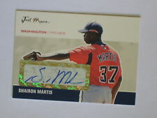 Washington Nationals SHAIRON MARTIS autographed 2007 Just Minors certified
