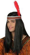 Perruque Noire INDIEN Déguisement Adulte Homme Costume Sioux Comanche