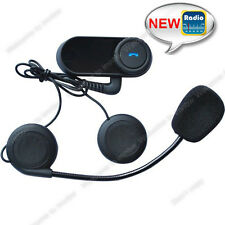 800m BT Interphone Bluetooth Motorbike Motorcycle Helmet Intercom Headset + FM
