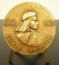 Médaille Sainte Brigitte de Suède, fille de Birger pureté sainteté miracle Medal