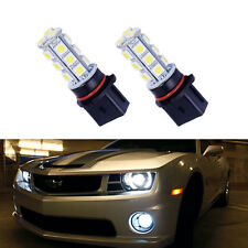 2pcs P13W 6000K White 18-SMD LED Bulbs For Chevy Camaro Fog Lamp Driving Light