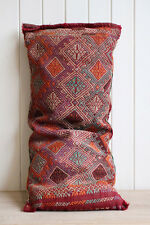 Large Vintage Retro Turkish Woven Kilim Cover Cushion 104x47cm