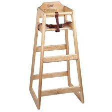 New Stacking Restaurant Wooden Pub Height High Chair - Unassembled