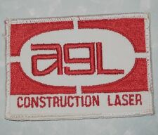 "AGL Construction Lasers Patch - 3 5/8"" x 2 5/8"""