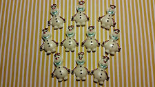 Edible Cake/Cupcake Decorations - 12 Frozen, Olaf Themed - Sugarpaste Toppers
