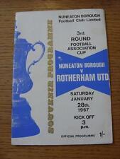 28/01/1967 Nuneaton Borough v Rotherham United [FA Cup] (Small Mark On Cover)