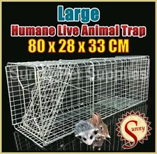 80cm Large Humane Live Animal Possums Rat Cat Rabbit Hare Bird Bait Rat Trap BN