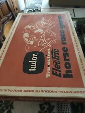Vintage Tudor Electric Horse Race Game Nice Shape Board Original Box AS IS