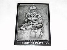 2012 Inception GREG JENNINGS #26 Black Printing Plate True 1/1 Green Bay PACKERS