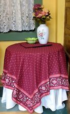 "French  100% COTTON TABLECLOTH VENCE MAUVE 45""X 60""  - Provence - France -"