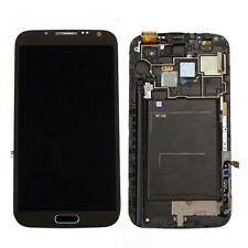 Grey Full LCD Touch Screen Glass Digitizer Frame For Samsung Galaxy Note 2 N7100