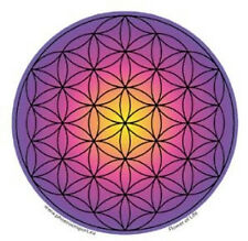 Mandala Arts Window Sticker: Flower of Life Purple Pink