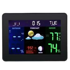 Digital LCD Wireless Weather Station Calendar Thermometer Hygrometer Meter R6L5