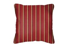 Throw Pillows Sunbrella Harwood Crimson 5603 (Set/2) Red Striped Square Acrylic