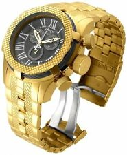 Women's  InvictA Reserve 17159 Yellow Gold BOLT Chronogpaph Swiss BLACK dial NEW