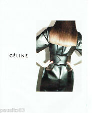 PUBLICITE ADVERTISING 096  2012  Céline    haute couture robe cuir