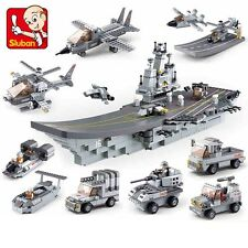 9 pcs Military Aircraft carrier model Lego Compatible Building Blocks Toy new