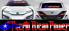 (1) Puerto Rican Puerto Rico Flag Decal Sticker #1124