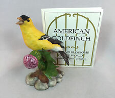 Franklin Mint American Goldfinch Bird 1986 Collector Figurine Fine Porcelain MIB