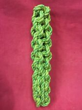 Rope Dog Toy GREEN MASSIVE 11 Inch X 2 1/4 Thick healthy teeth Gum Tough Strong